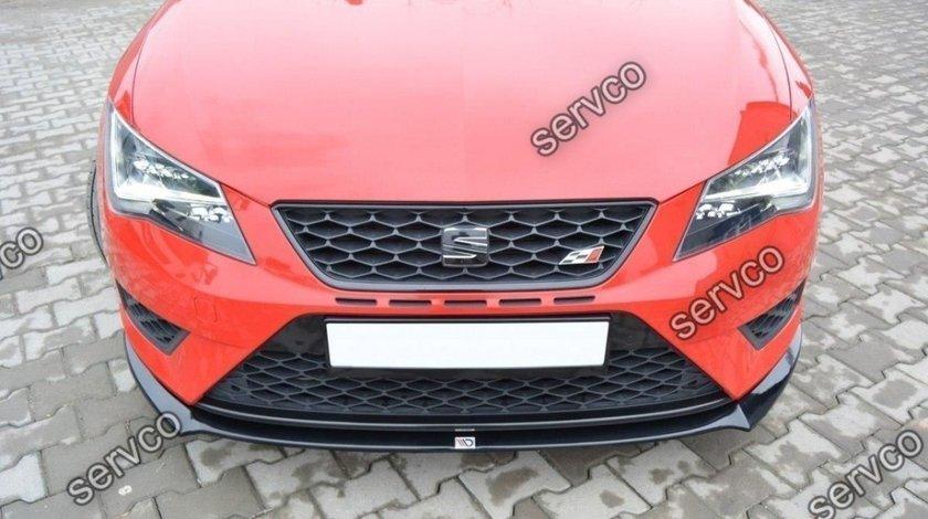 Prelungire splitter bara fata Seat Leon 5F MK3 Cupra Fr 2012-2016 v1
