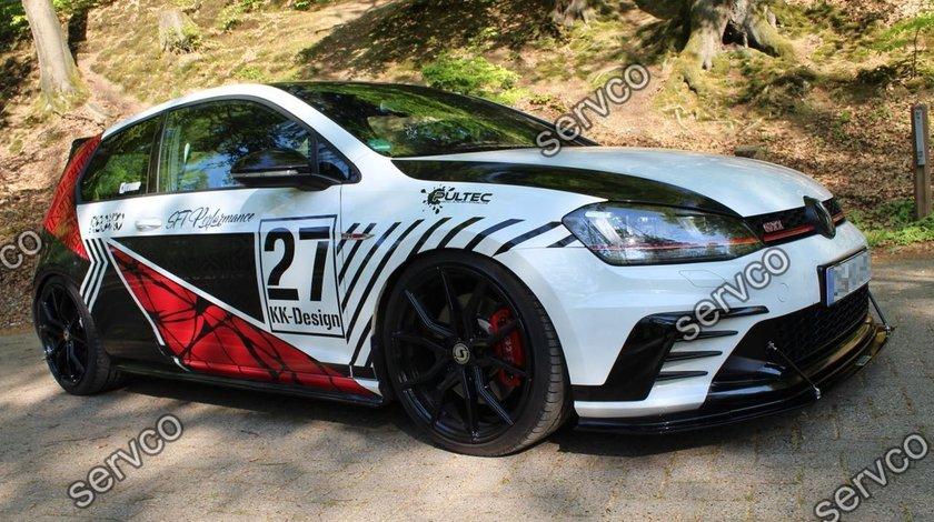 Prelungire splitter bara fata Volkswagen Golf 7 GTI ClubSport 2016-2017 v11
