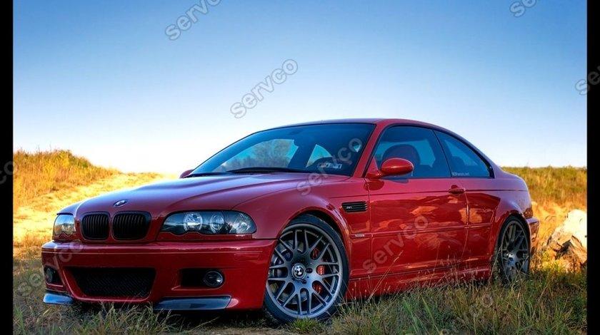 Prelungire splitter flapsuri bara fata BMW E46 seria 3 M3 CSL 1998-2005 v2