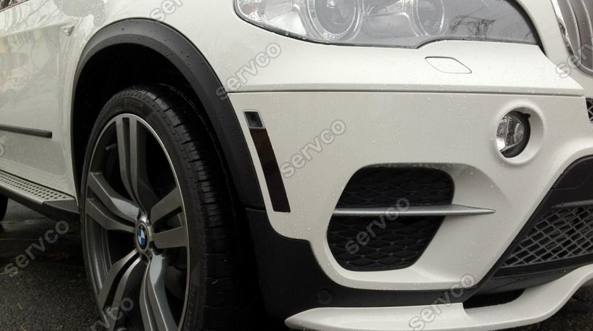 Prelungire splitter lip bara fata BMW X5 E70 LCI Facelit 2010-2013 v2