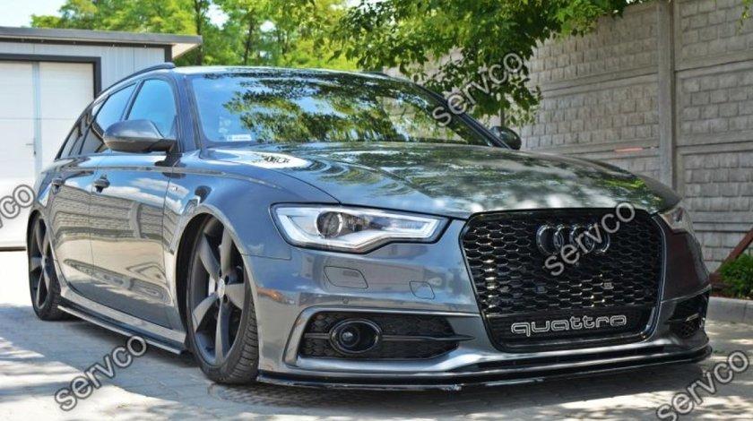 Prelungire splitter tuning bara fata Audi A6 C7 S-line 2012-2014 v2