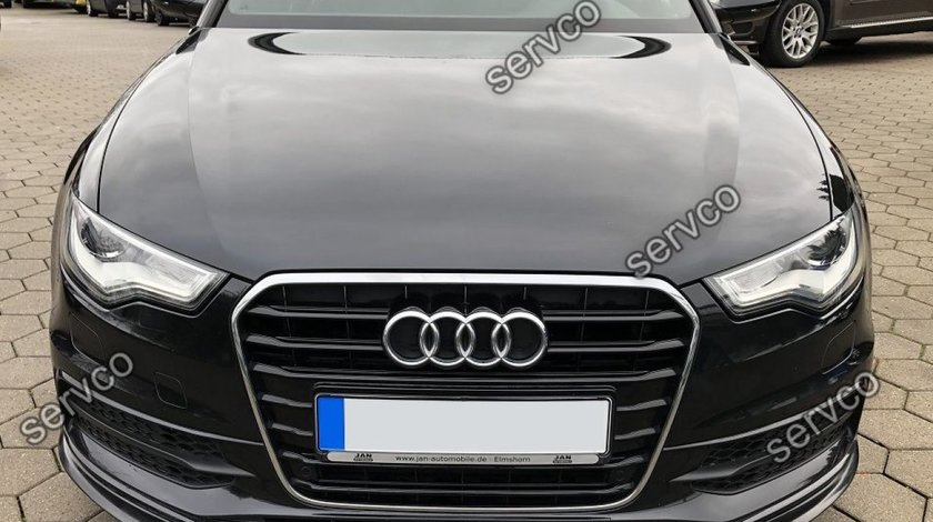 Prelungire splitter tuning bara fata Audi A6 C7 S-line 2012-2014 v4