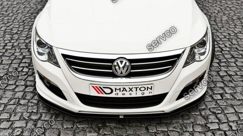 Prelungire splitter tuning bara fata Volkswagen Passat CC R36 Rline 2008-2012 v2