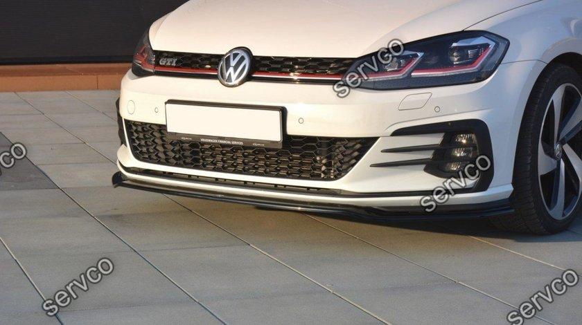 Prelungire splitter tuning bara fata Volkswagen Golf 7 Mk VII GTI Facelift 2017-2019 v10