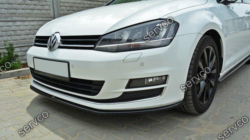 Prelungire splitter tuning bara fata Volkswagen Golf 7 Mk VII 2012-2016 v5