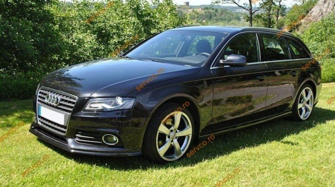Prelungire spoiler bara fata Audi A4 B8 8K S line RS4 S4 ver1