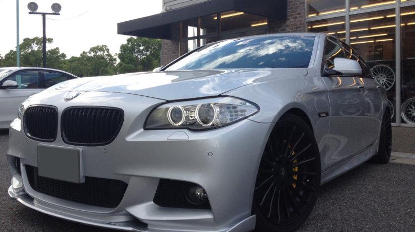 Prelungire spoiler bara fata BMW F10 F11 Hamann ver.2 pt bara pachet M tech Aerodynamic