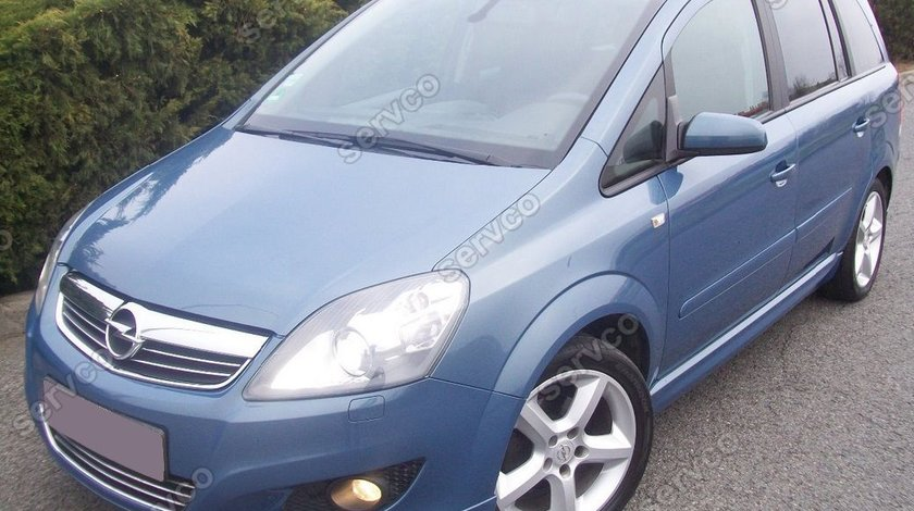 Prelungire spoiler bara fata Opel Zafira B OPC Line Facelift 2009 2010 2011 2012 2013 2014