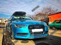 Prelungire spoiler bara fata tuning Audi A6 4G C7 2011 2012 2013 2014 ABT Sline S6 Rs6