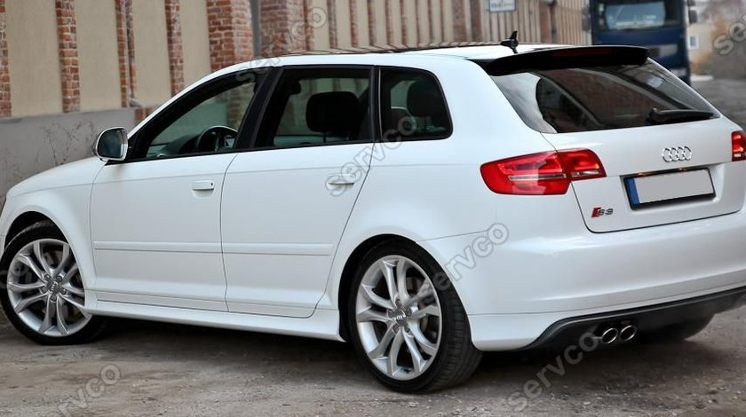 Prelungire spoiler difuzor bara spate Audi A3 8P Sportback S3 S line ver2
