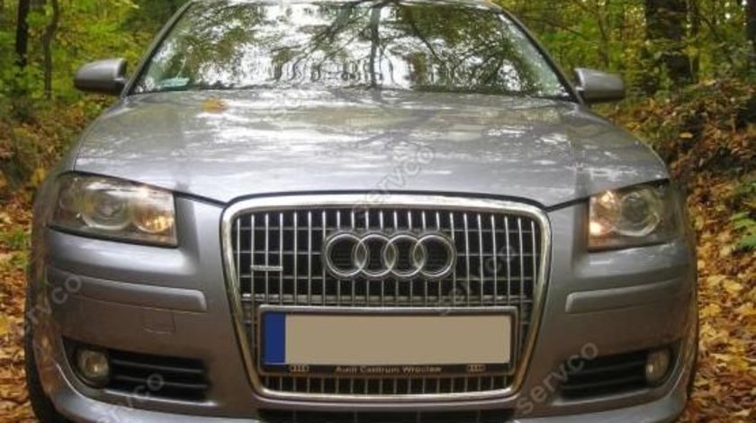 Prelungire spoiler sport tuning bara fata Audi A3 8P Coupe S3 S line RS3 ver1