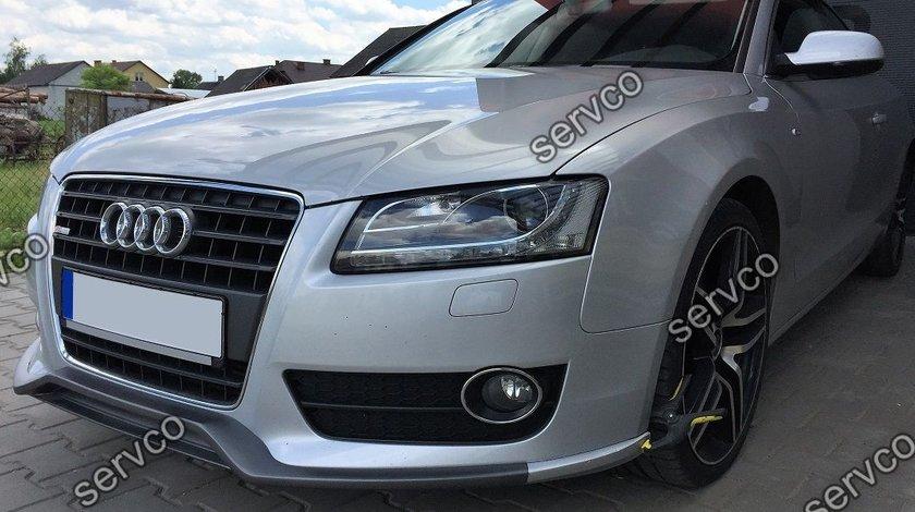 Prelungire spoiler tuning bara fata Audi A5 Sportback Coupe Cabrio 8T 8T3 S5 Rs5 Sline 2007-2012 v3