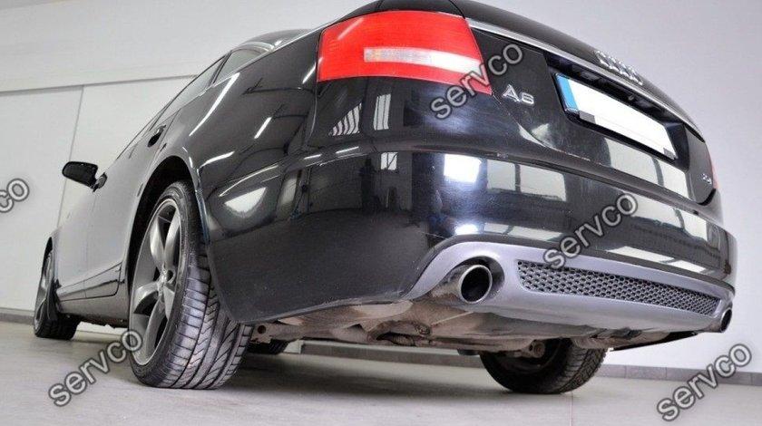Prelungire spoiler tuning sport bara spate Audi A6 C6 Sline S6 Rs6 Sedan Limuzina v3