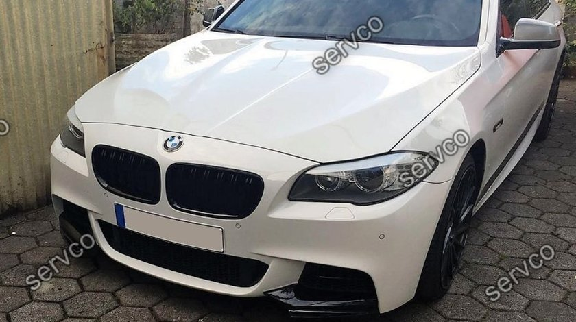 Prelungire tuning splittere flapsuri extensie bara fata BMW F10 F11 pt bara Mpachet v1