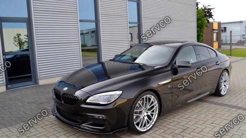 Prelungire tuning sport lip bara fata BMW Seria 6 F06 F12 F13 Hamann 2012-2018 v1
