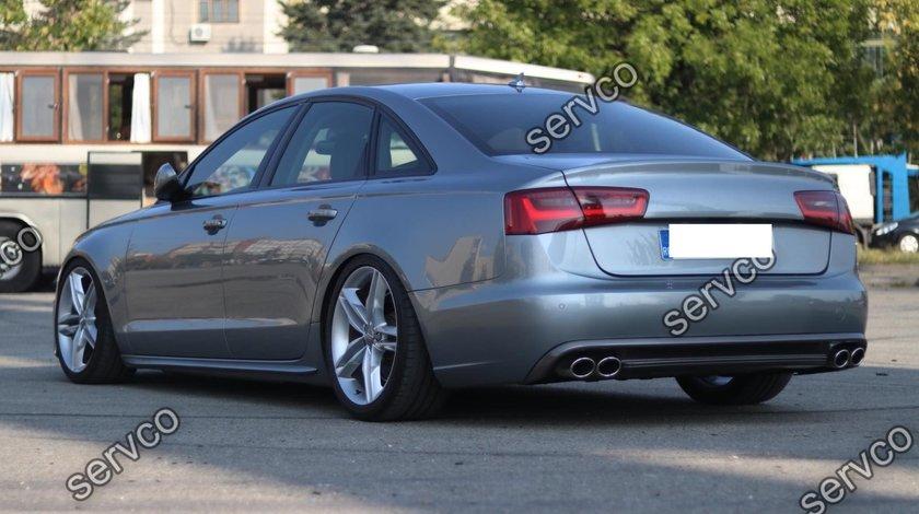 Prelungire tuning sport S6 Sline spoiler difuzor bara spate Audi A6 4G C7 RS6 2011-2014 v3
