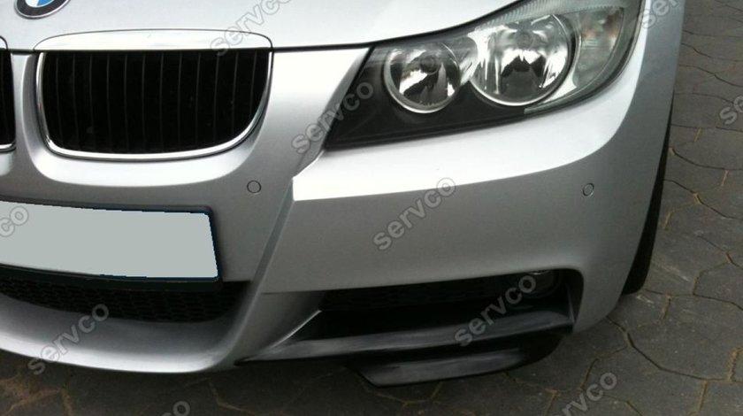 Prelungiri splittere flapsuri BMW E90 E91 2005 2006 2007 2008 2009 pt bara Mpachet v3
