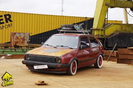Premiera in Romania: Rat Style VW Golf 2 GT  by Vlad