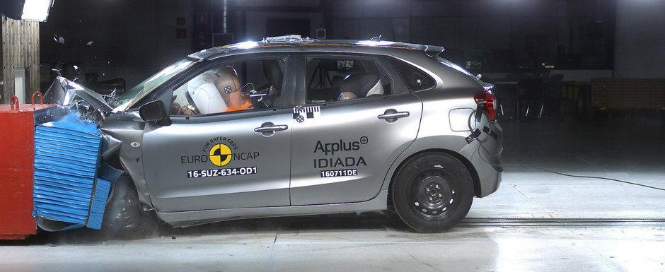 Premiera la testele Euro NCAP. Suzuki Baleno primeste doua note diferite in aceeasi sesiune
