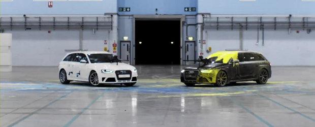 Premiera mondiala in lumea sporturilor: Paintball cu... Audi RS4 Avant