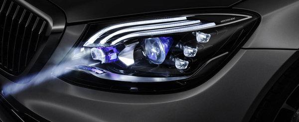 Premiera mondiala: noile FARURI DIGITALE de la Mercedes au 2 milioane de pixeli si pot proiecta pe drum diverse informatii