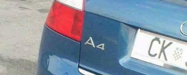 Premiul pentru cea mai originala evacuare merge sigur la posesorul acestui Audi A4