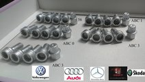 Prezoane antifurt OE+cheie VW Audi, Skoda, Seat, M...