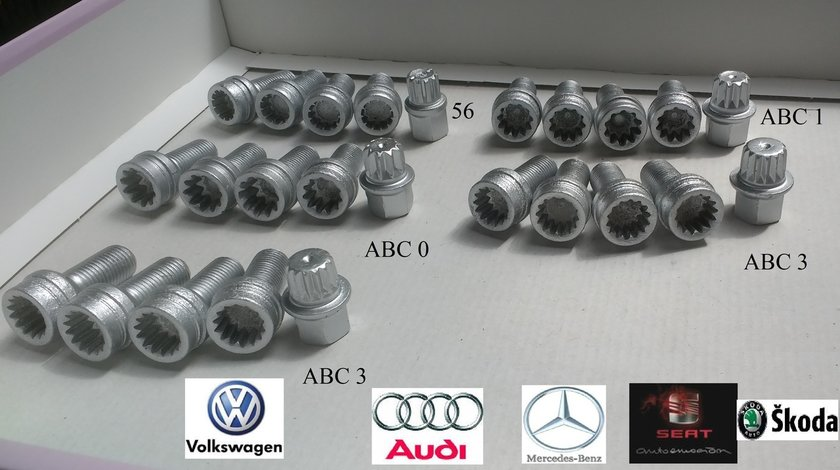 Prezoane antifurt OE+cheie VW Audi, Skoda, Seat, Mercedes
