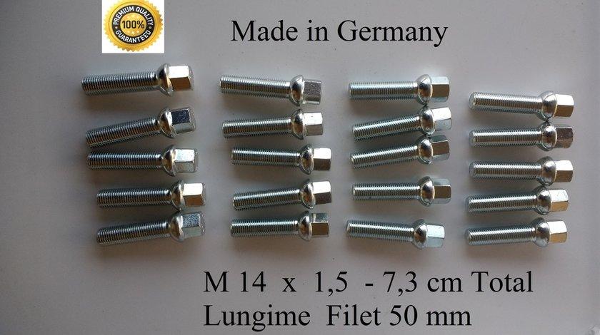 Prezoane lungi 73 mm M14 pas 1,5 Jante aliaj