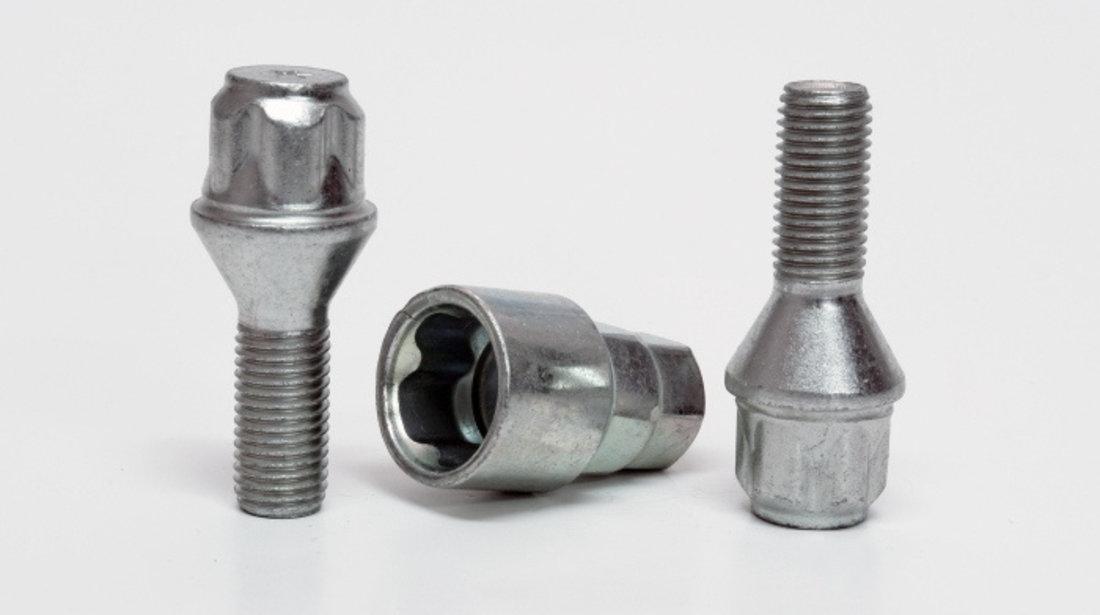 Prezoane roata M14X1.25 antifurt, cap conic