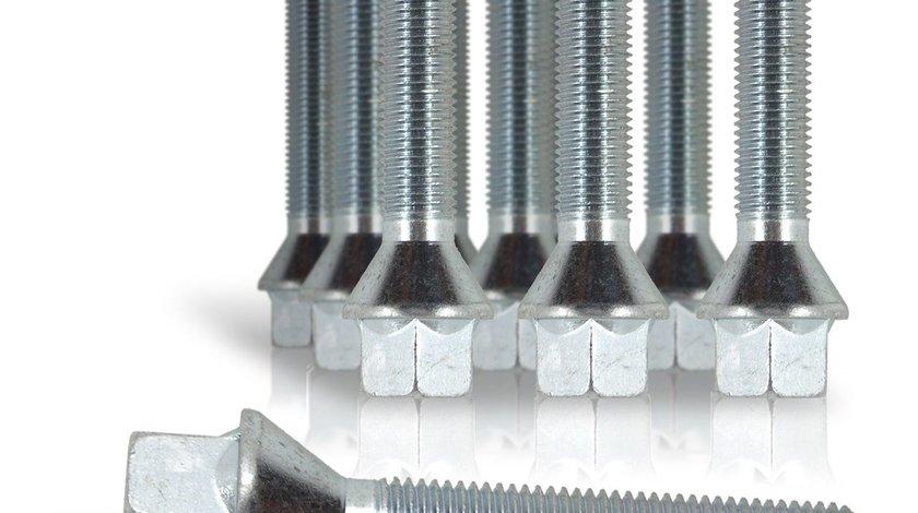 Prezon M12 x 1,25 cu lungime filet 35mm cu cap conic