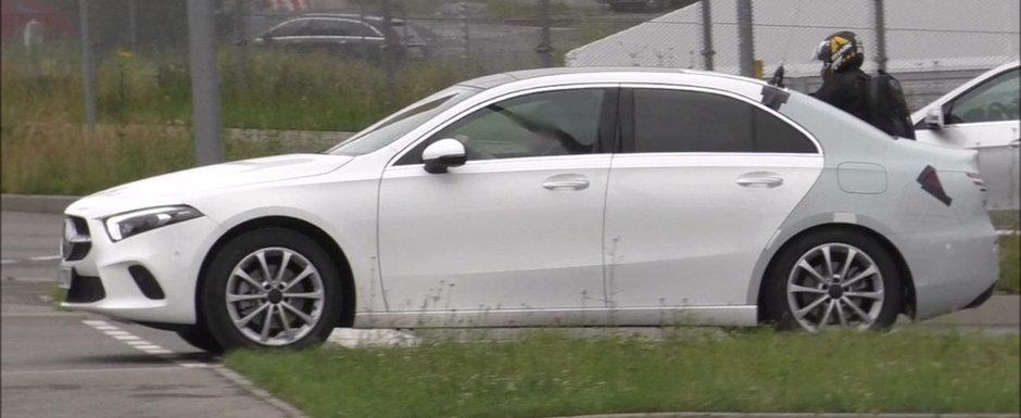 Prima berlina compacta de la Mercedes vine sa-i fure clientii lui A3 Sedan. VIDEO SPION