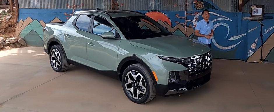 Prima camioneta de la Hyundai a debutat oficial. Cum arata in realitate Santa Cruz, pick-up-ul cu design SF si instalatie audio Bose