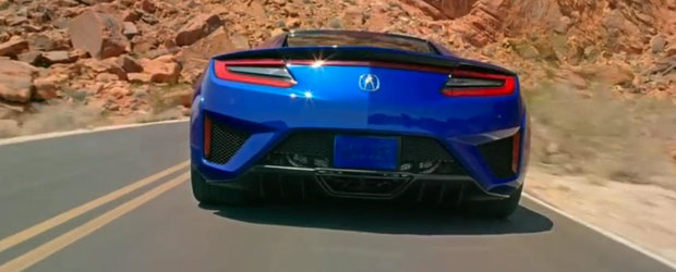 Prima filmare oficiala cu noua Honda NSX vine, in mod ciudat, fara sunet
