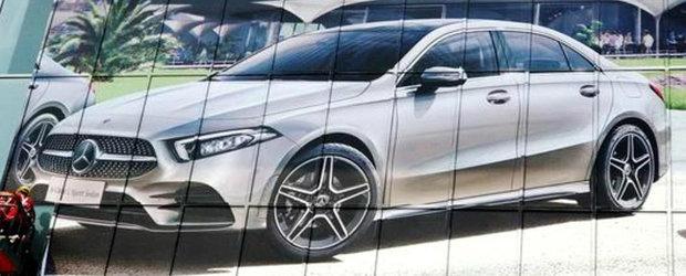 Prima imagine a fost scapata pe internet. Noua masina de la Mercedes se bate cu Audi A3 Sedan