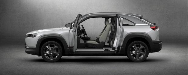 Prima masina electrica de la Mazda debuteaza cu o autonomie dezamagitoare si portiere a la RX-8