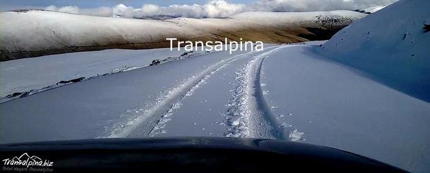 Prima ninsoare pe Transalpina. Drumul a fost acoperit cu zapada!