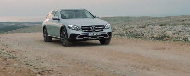 Prima reclama la noul Mercedes E-Class All-Terrain ne arata masina germana atat pe asfalt, cat si in afara acestuia