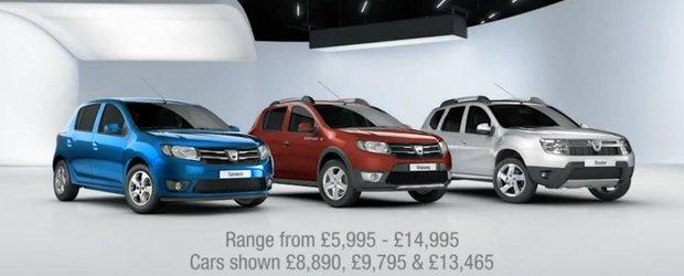 Prima reclama pe 2013 la noile modele Dacia in Anglia