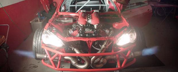 Prima Toyota GT86 cu motor de Ferrari s-a trezit la viata. Sunetul este incredibil!