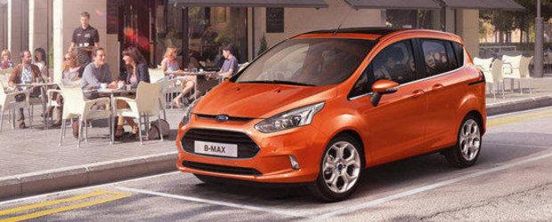 Primele Ford B-Max vor fi livrate in Romania in luna septembrie
