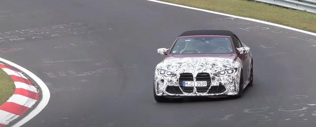 Primele fotografii neoficiale ale noului M4 Cabrio risipesc orice urma de indoiala cu privire la aspectul si marimea grilei frontale