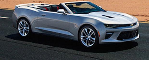 Primele imagini ale noului Camaro Convertible au ajuns pe internet