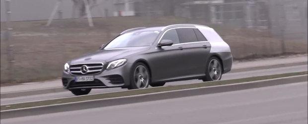 Primele imagini cu noul Mercedes E-Class break. Cum arata rivalul lui BMW Seria 5 Touring