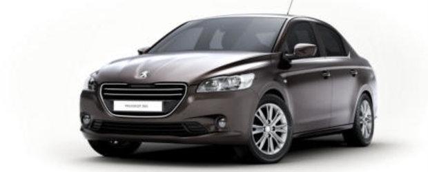 Primele imagini cu noul Peugeot 301