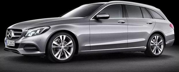 Primele imagini oficiale cu noul Mercedes C-Class Break