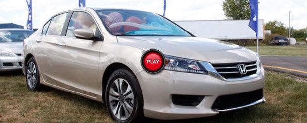 Primele imagini reale cu noua Honda Accord