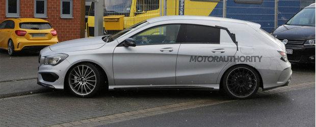 Primele imagini spion cu noul Mercedes CLA45 AMG Shooting Brake