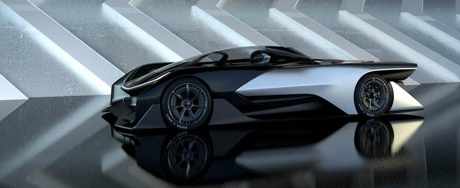 Primele poze oficiale cu Faraday Future FFZERO1, masina electrica de 1000 CP
