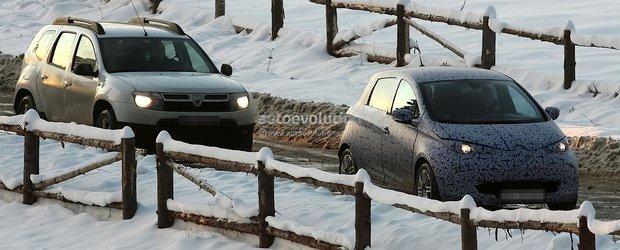 Primele poze spion cu Renault Zoe surprins in Romania